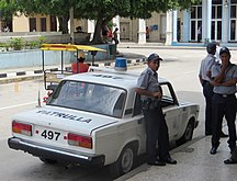 Cuba-Crime and law enforcement-Cuba police car 01
