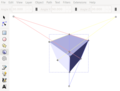 Cube with Three Vanishing Points with 3D Box Tool in Inkscape.png