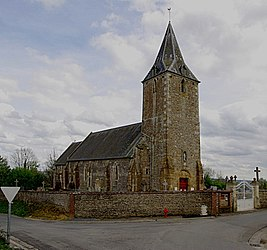 The church in Curcy-sur-Orne