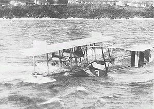 Curtiss NC - NC-3 off the Azores, 1919.