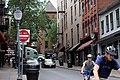 Cyclists on Caroline Street, Saratoga Springs, New York.jpg