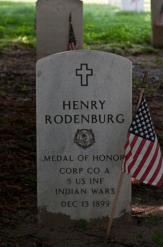 Cypress Hills National Cemetery - Medal of Honor recipient Henry Rodenburg.