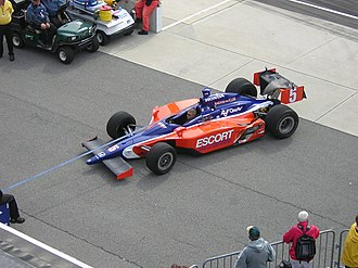 Buddy Lazier - Lazier's car in Gasoline Alley during practice for the 2006 Indianapolis 500