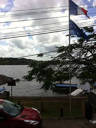 Saint-Georges, French Guiana - A view across the river from the French side