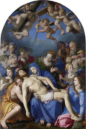 Deposition of Christ (Bronzino) - Image: Déploration sur le Christ mort (Bronzino)