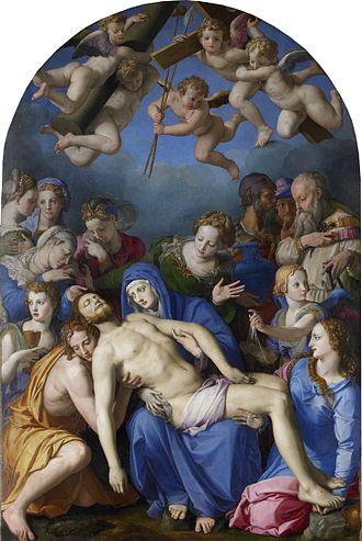 Musée des Beaux-Arts et d'archéologie de Besançon - Image: Déploration sur le Christ mort (Bronzino)
