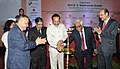 "D.V. Sadananda Gowda lighting the lamp to inaugurate the ""National Conference on Strengthening the Economy through Judicial Reforms"", organised by the Association of Chambers of Commerce& Industries in India (ASSOCHEM).jpg"