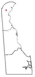 Location of Pike Creek, Delaware
