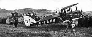 King's Cup Race - Airco DH.4A (G-EAMU), after winning the first King's Cup air race, 1922