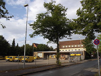 DHL Express - Traditional DHL subsidiary in Steinfurt (Germany) sharing premises and logistics with Deutsche Post
