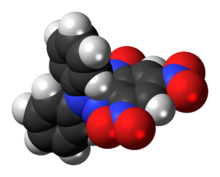 Space-filling model of the DPPH molecule