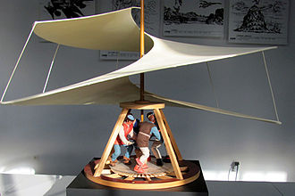 Hubschraubermuseum Bückeburg - Model of Leonardo da Vinci's Aerial Screw Invention