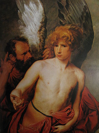 English: Daedalus and Icarus by Anthony van Dy...