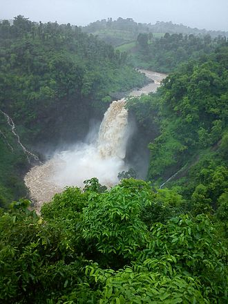 Jawhar - A scenic view of the Dahbosa Waterfalls during monsoon, Jawhar