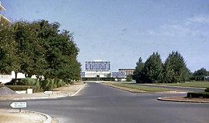 Cheikh Anta Diop University - Cheikh Anta Diop University campus, 1967. The original library building at center.