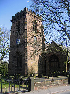 Listed buildings in Runcorn (rural area) - Image: Daresbury church tower