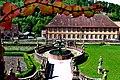 Das Kloster Bronnbach, Blick in den Garten.jpg