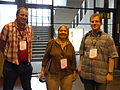 Dave Craven, Sydney Poore and Kirill Lokshin at Wikimania 2014 01.jpg