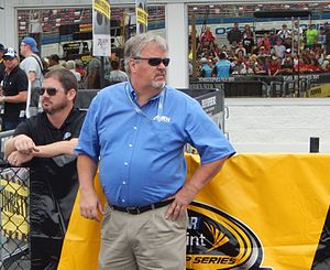 Dave Moody (sportscaster) - Moody at Talladega Superspeedway in 2015