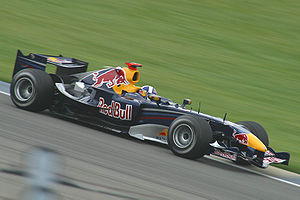 Red Bull Racing - Coulthard driving the RB2 at the 2006 United States Grand Prix.