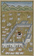 De Kaaba, in vogelvlucht gezien