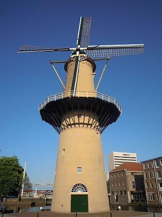 Schiedam - A windmill in Schiedam