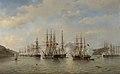 De Nederlandse, Engelse, Franse en Amerikaanse eskaders in de Japanse wateren tijdens de expeditie onder leiding van de Franse commandant Constant Jaurès, september 1864 Rijksmuseum SK-A-2726.jpeg