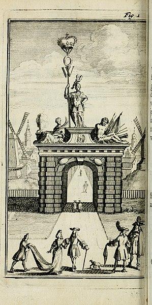 File:De konincklycke triumphe - vertoonende alle de eerpoorten, met desselfs besondere sinne-beelden, en hare beschryvinge, ten getale van in de 60, opgerecht in s' Gravenhage 1691 ter eere van Willem de (14745591174).jpg
