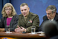 Defense.gov News Photo 100809-D-7203C-026 - Director of Cost Assessment and Program Evaluation Christine H. Fox left Vice Chairman of the Joint Chiefs of Staff Gen. James E. Cartwright Jr.jpg