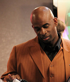 Deion Sanders American football,, and baseball player and broadcast sports analyst