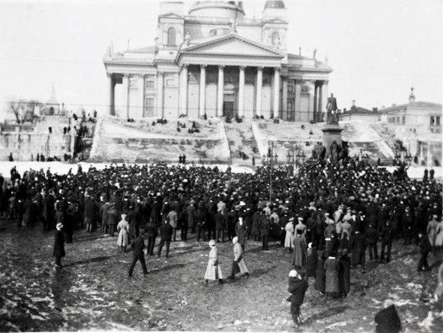 Demonstration at Helsinki Senate Square