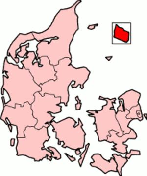 Bornholm County - Bornholmg County in Denmark