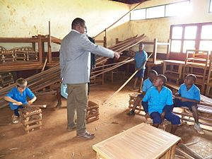 Education in Cameroon - Vocational training in Mbô (Bandjoun).