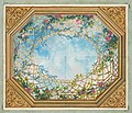 Design for a ceiling painted with clouds, trellises, and roses MET DP811707.jpg