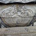 Detail van een schildering op de met lood beklede torenspits, tijdens de restauratie - Edam - 20379427 - RCE.jpg