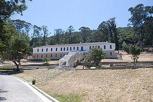 Angel Island Immigration Station - The reconstructed detention center located at the Angel Island Immigration Station.