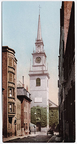 Postcard depicting a church in Boston