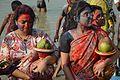 Devotees - Durga Idol Immersion Ceremony - Baja Kadamtala Ghat - Kolkata 2012-10-24 1527.JPG