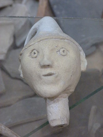 Clay - Bottle stopper made of fired clay, 14th century