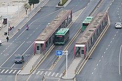 Dianchang Road Station of Zhengzhou BRT 20190409.jpg