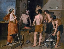 The Forge of Vulcan by Diego Velasquez, (1630).