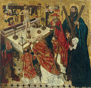 Diego de la Cruz - The Mass of Saint Gregory - Google Art Project.jpg