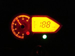 Bajaj Pulsar - The LCD screen introduced with the UG-3 version of the Pulsar