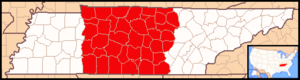 Roman Catholic Diocese of Nashville - Image: Diocese of Nashville map