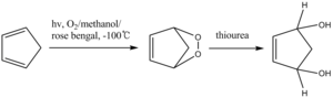 Thiourea - reduction of cyclic peroxide