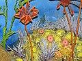 Diorama of a Silurian seafloor - crinoids, bryozoans, corals, algae (30778097257).jpg