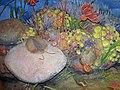 Diorama of a Silurian seafloor - crinoids, trilobites, corals, algae, bryozoans, Leptaena brachiopod (43901254260).jpg