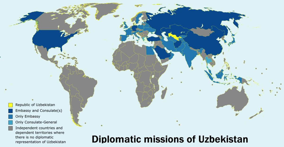 List of diplomatic missions of Uzbekistan