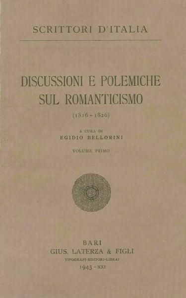 File:Discussioni e polemiche sul Romanticismo, Vol. I, 1943 – BEIC 1812124.djvu