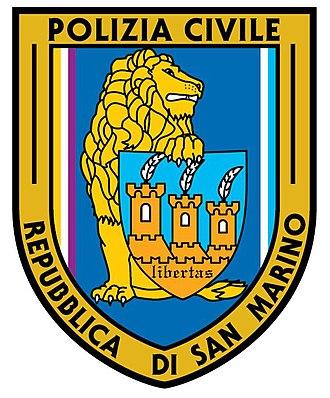 Civil Police (San Marino) - Image: Distintivo Polizia Civile